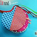 Bavoir rond à nouer original fait main made in france _ pop, vintage, coloré