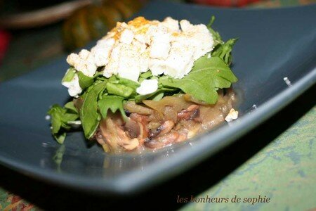 timbale_champi_pomme_roquette_feta_zoom