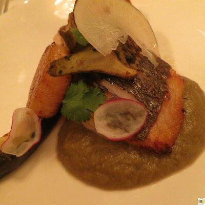 Dorade grise, tranche d'aubergine (1)