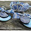 Bracelet Catherine et BO duo de nacre d'Anjo bleu