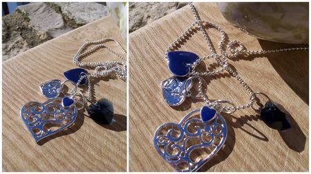 Sautoir coeur bleu