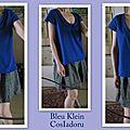 Bleu klein porté