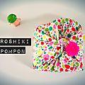 Diy: furoshiki & pompon