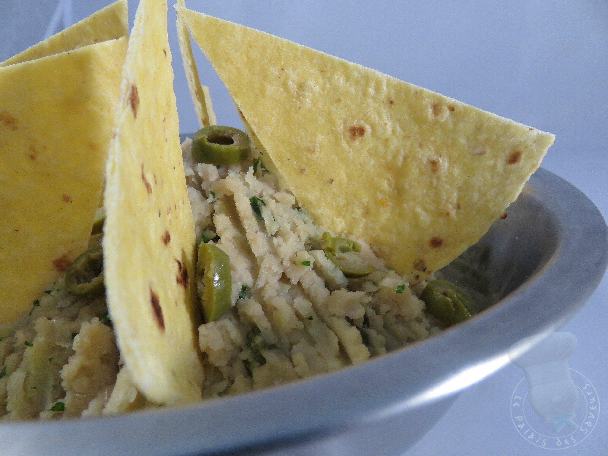 Rilettes de haricots blancs aux olives vertes