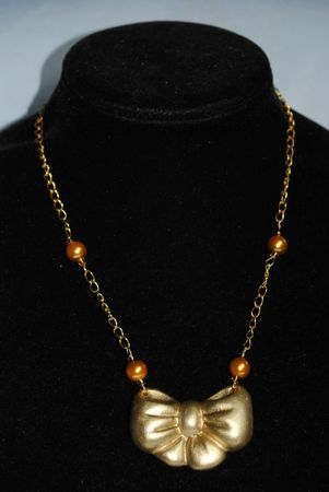 collier noeud or (1)