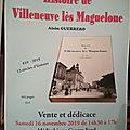 Parution du livre sur l'histoire de villeneuve les maguelone par alain guerrero.....