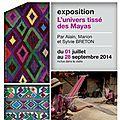 Exposition de textiles mayas en bretagne