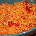 Riz jollof facon buea (cameroun), legumes et lait de coco