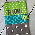 housse de carnet de santé personnalisé NAOKI