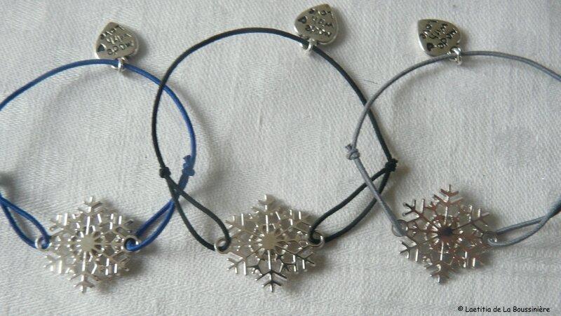 Bracelet Etoile des neige (sur fil élastique)