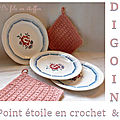 Digoin et crochet au point étoile