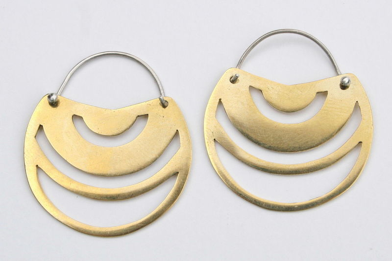 Boucles d'oreilles en Laiton et Argent, collection