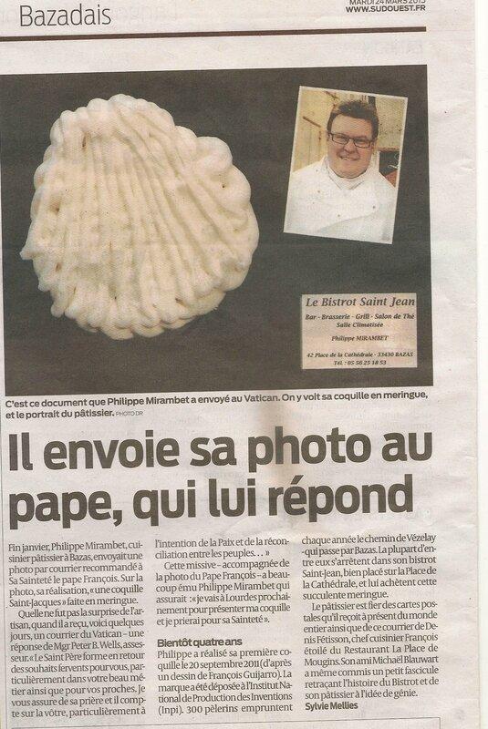 Il envoie sa photo au pape, qui lui répond