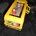 School bus fisher price