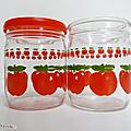 Vintage ... pot en verre henkel 45cl * frise pommes