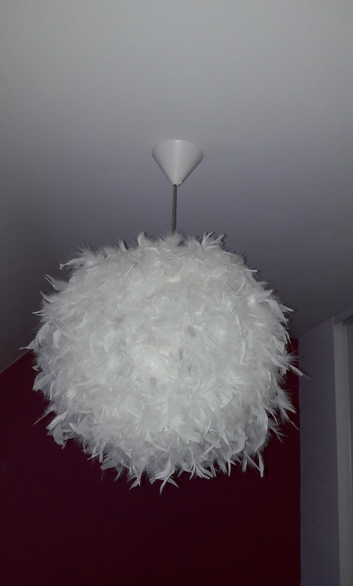 Boule De Plume A Suspendre suspension plume - l'atelier steredenn