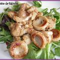 Salade de boudin blanc marron et noix