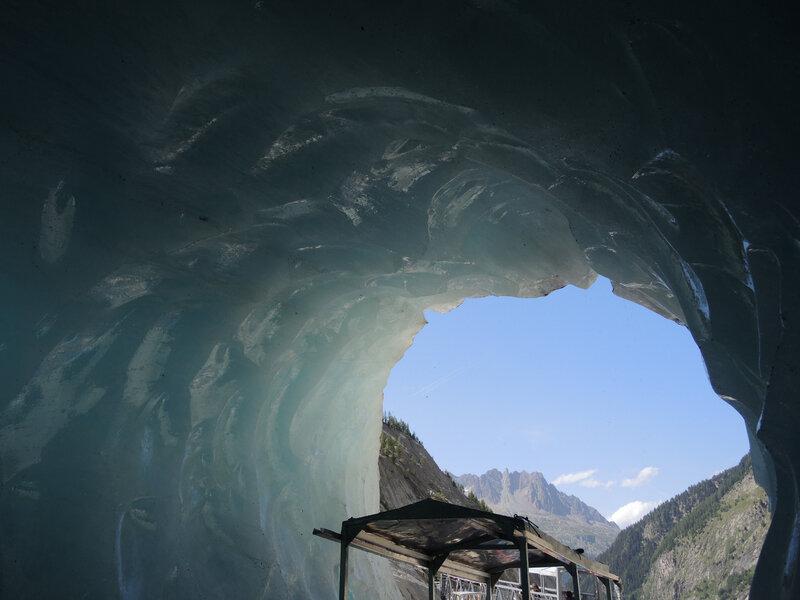 Chamonix, la Mer de Glace, la grotte, sortie (74)