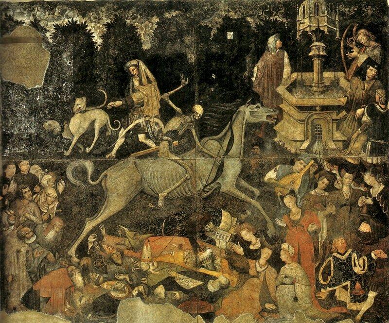 1446 (après) Anonyme XVe s fresque Triomphe de la Mort Palerme Palazzo Abatellis -annsteindotunblogdotfr