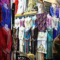 Les commerçants des souks à marrakech en 1954-55