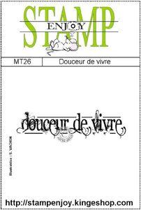 MT26 - douceur de vivre -sachet 8 x 12