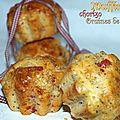 Muffins au chorizo et graines de pavot