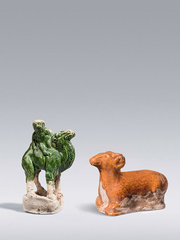 Miniature_pottery_ram_and_camel__China__Tang_dynasty__618___906