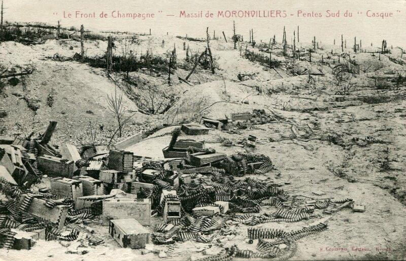 Moronvilliers (Marne), pentes sud du Casque