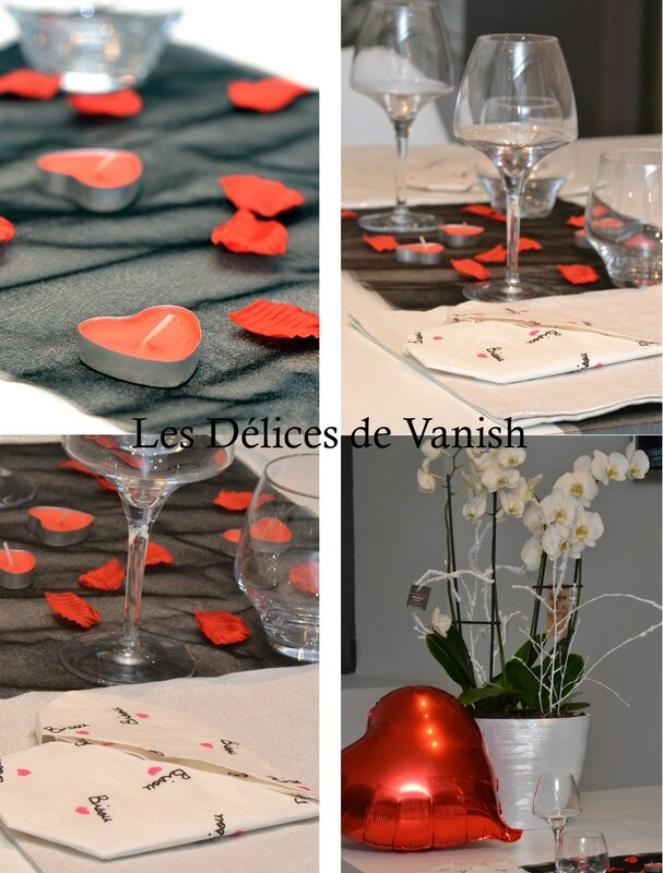 cook angels, deco de table, menu st valentin