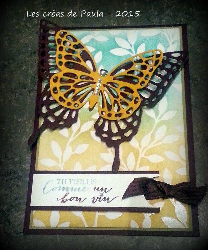 carte papillon et papier magique