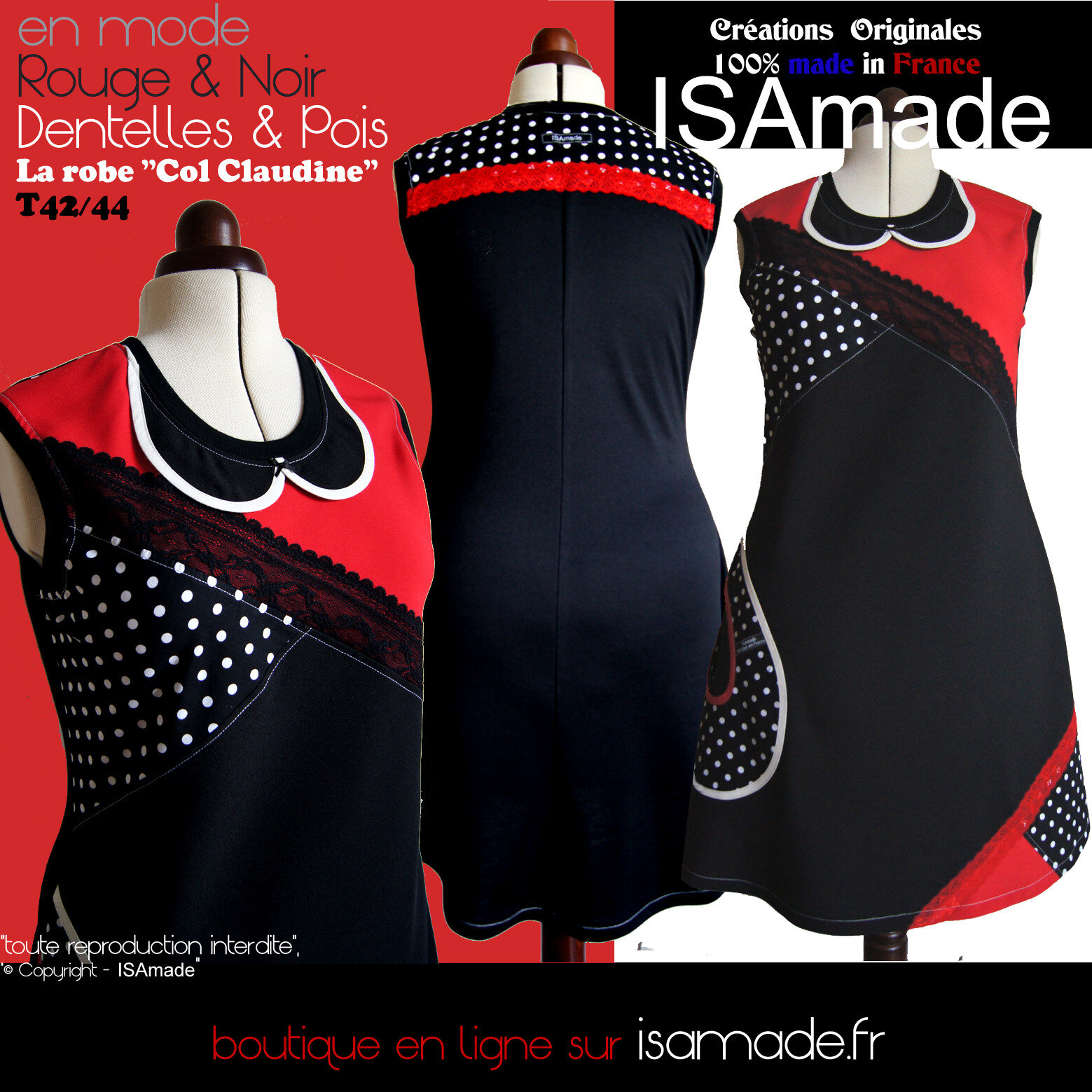 91754564f639 Robes Femme Originales créateur mode fabriquées en France.