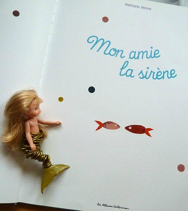 Mon amie la sirène - Nathalie Minne - page de titre et Glaucia
