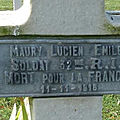 Maury lucien (châteauroux) + 11/11/1916 morval (80)