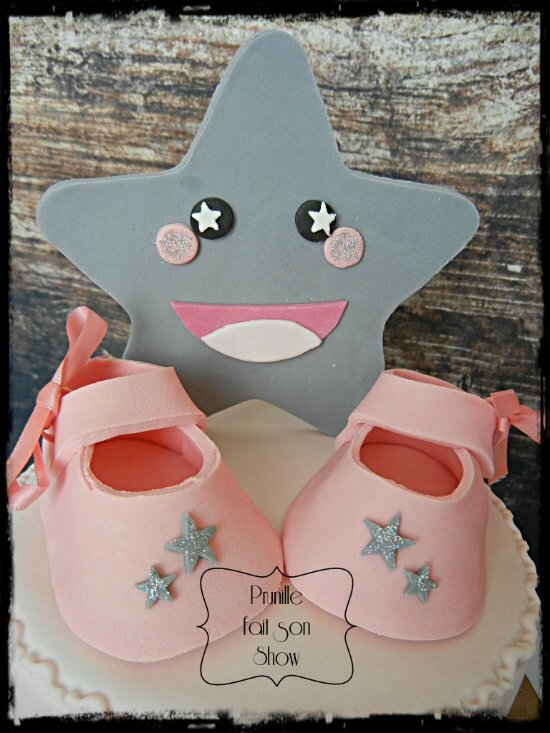 gateau baby shower fille étoile prunillefee 2
