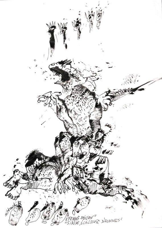 NITKOWSKI Femme-poisson 1987 29,7 x 21