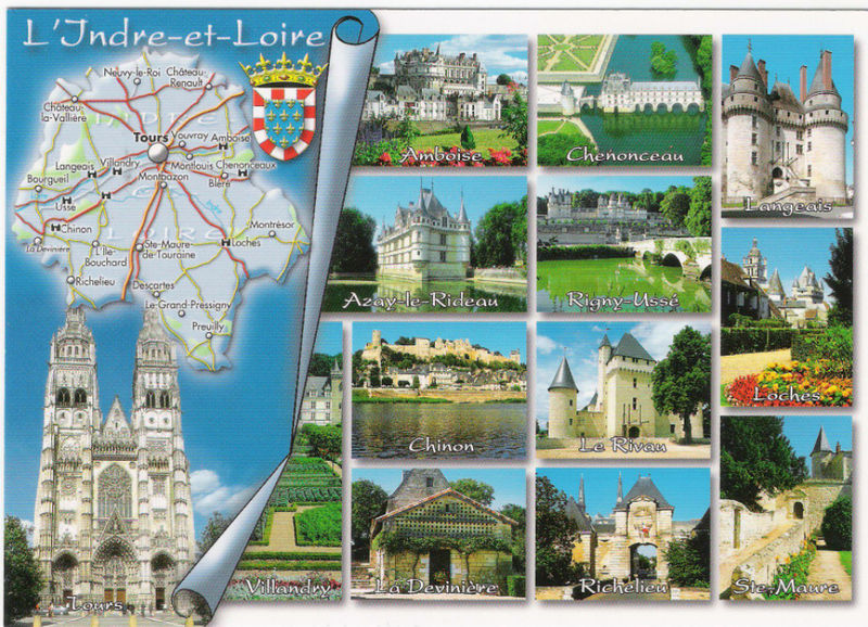 CARTES POSTALES DE LA TOURAINE