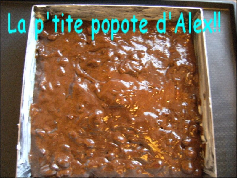 Brownie avant cuisson