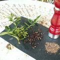 poivre de Sichuan dans tous ses états : en feuille et en fleurs,