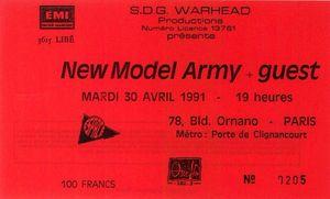 1991_04_New_Model_Army_Espace_Ornano_Billet