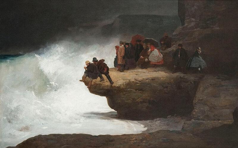 Jehan-Georges Vibert - Tempête, côte d'Etretat, 1867