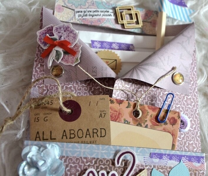 Loaded Enveloppe Carole 6 - Défi #3 Sagapo Scrap Snow - Février 2018