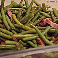 Haricots verts sautés aux lardons
