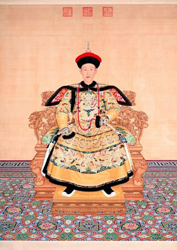 Giuseppe Castiglione (Italian 1688–1766, worked in China 1714–66), Portrait of Qianlong Emperor in ceremonial court robe