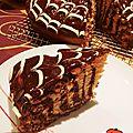 Cake marbré nappage chocolat