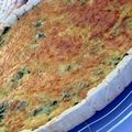 Quiche aux bettes et moutarde.