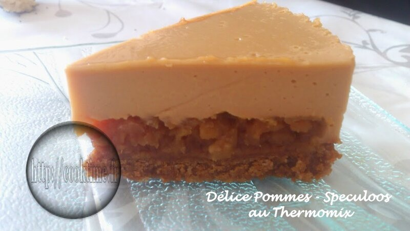 Delice pommes speculoos thermomix