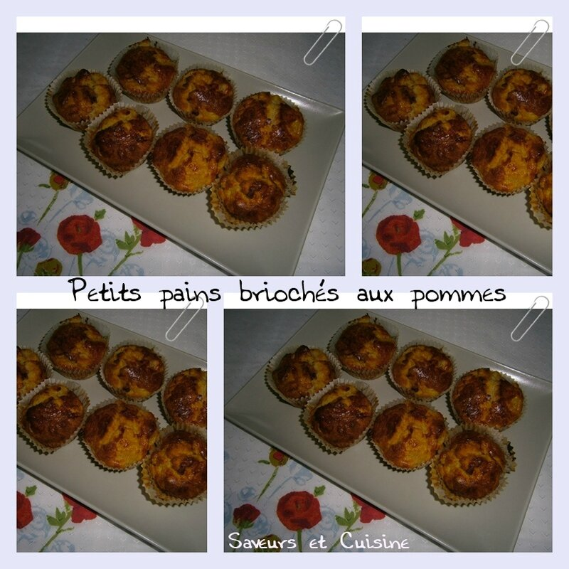 Petits pains briochés aux pommes 1