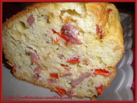 Cake poivron-oignon-bacon - 3