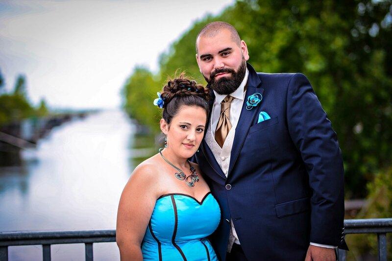Les mariés en chocolat turquoise