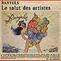 Le salut des artistes au banyuls en 1985 !